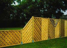 Деревянный декоративный забор